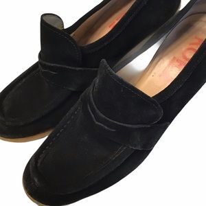 Kors Michael Kors Black Loafer Wedges
